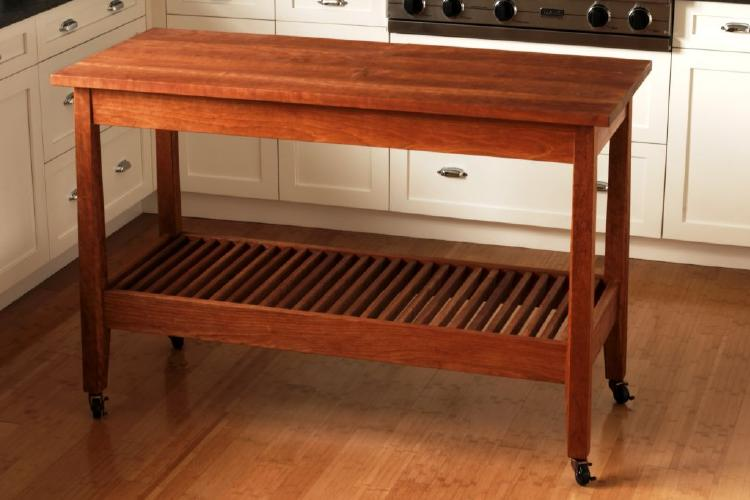 kitchen work table by urban forest furniture: handmade mortise and ...