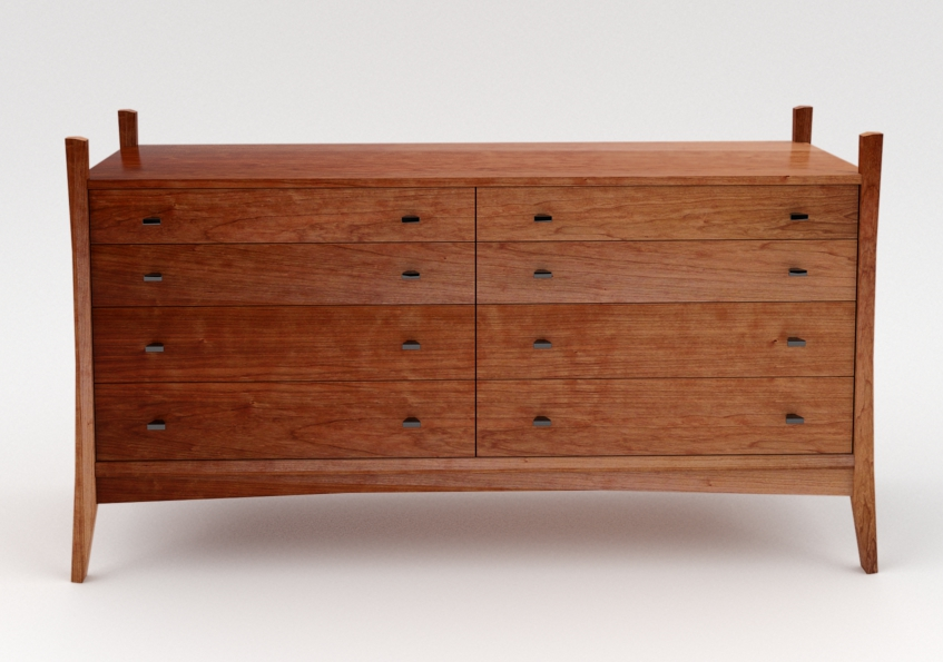 Eight Drawer Dresser in Cherry