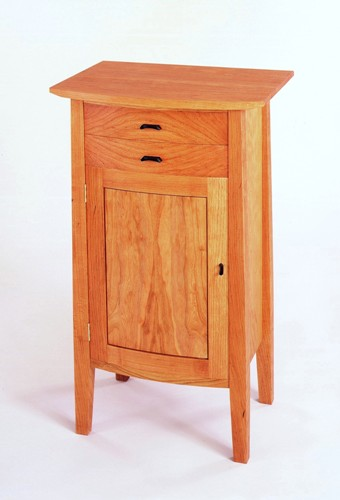 Custom Handmade Curved Front Standing Cabinet
