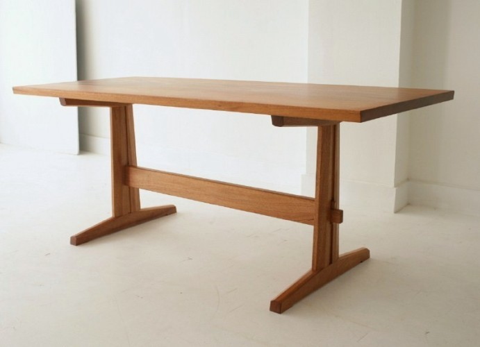 Trestle Dining Table House Furniture : trestle20table2028229 from themillennialhousewife.blogspot.com size 691 x 500 jpeg 40kB