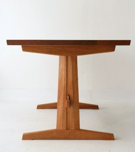 trestle table by urban forest furniture custom handmade  : trestle20table20front2028229 from urbanforestfurniture.com size 444 x 500 jpeg 28kB