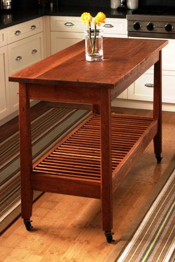 kitchen work table by urban forest furniture: handmade ...